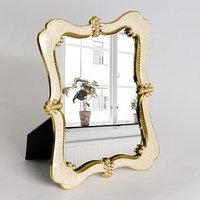 Зеркало интерьерное 'Версаль', зеркальная поверхность 18 x 22 см, цвет бежевый/золотой