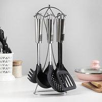 Набор кухонных принадлежностей 'Фидель', 6 предметов на подставке