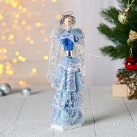 Фигурка новогодняя 'Воздушный ангел в голубом платье'