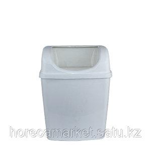 Ведро для мусора 6 л настенное без крышки белый
