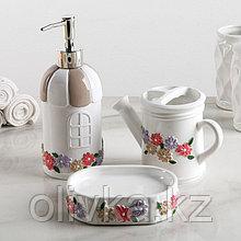 Набор аксессуаров для ванной комнаты «Прованс», 3 предмета (дозатор, мыльница, стакан)