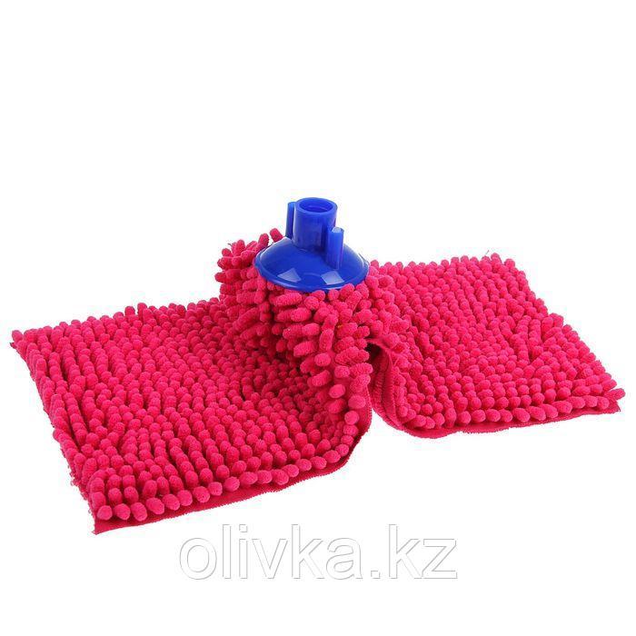 Насадка для швабры, микрофибра букли, 150 гр, цвет МИКС