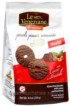 Печенье Le Veneziane с какао и фундуком, 250г