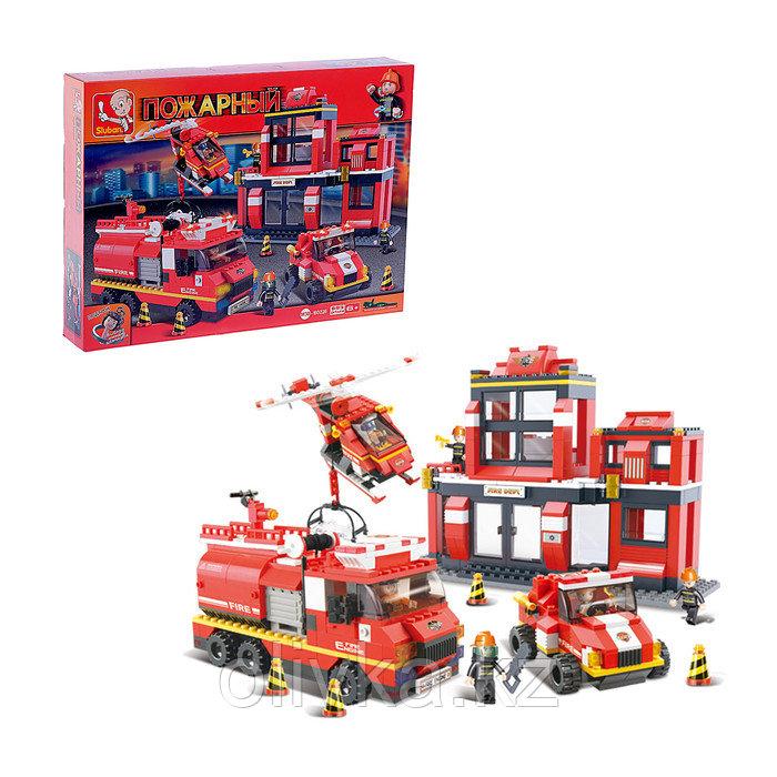 Конструктор «Пожарная станция», 693 детали