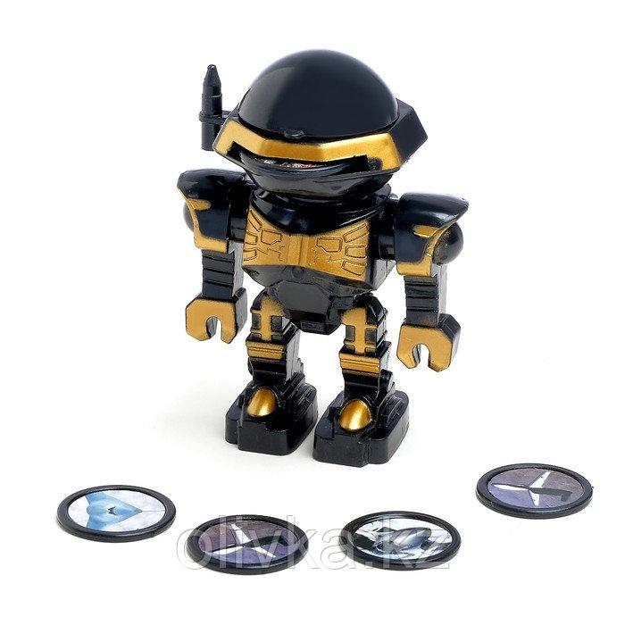 Робот «Космовоин», стреляет дисками, цвета МИКС