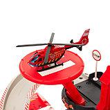Парковка «Пожарная служба», с 1 металлической машиной и вертолётом, фото 2