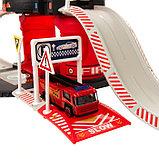 Парковка «Пожарная служба», с 1 металлической машиной и вертолётом, фото 3