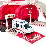 Парковка «Скорая помощь», с 1 металлической машиной и вертолётом, фото 3