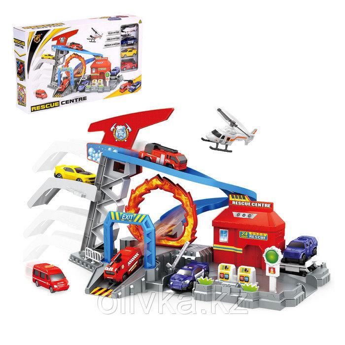 Парковка «Пит Стоп», 3 машины + вертолет, лифт