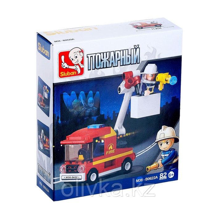 Конструктор «Пожарная машина», 82 детали