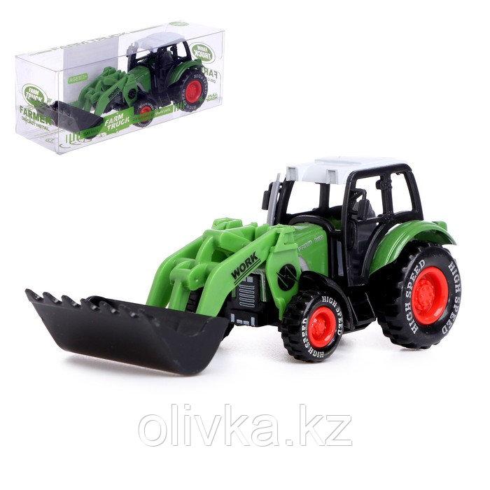 Трактор металлический «Фермер», инерционный, МИКС