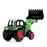 Трактор металлический «Фермер», инерционный, МИКС, фото 3