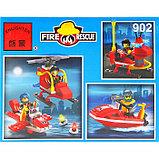 Конструктор «Пожарные спасатели: вертолёт + гидроцикл», 111 деталей, фото 2