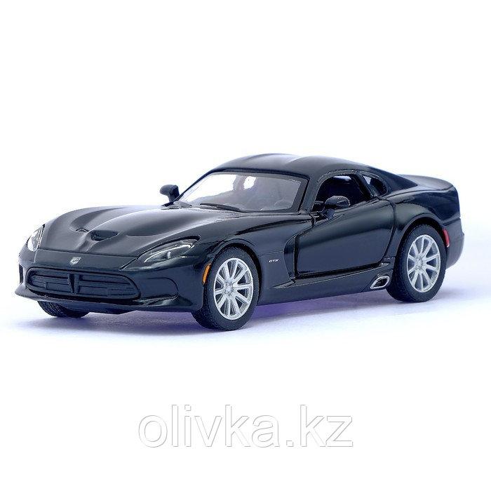 Машина металлическая SRT Viper GTS, 1:36, открываются двери, инерция, цвет чёрный