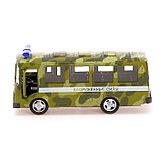 Автобус металлический «Спецслужбы», масштаб 1:52, инерция, МИКС, фото 2