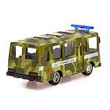 Автобус металлический «Спецслужбы», масштаб 1:52, инерция, МИКС, фото 3
