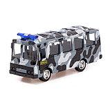 Автобус металлический «Спецслужбы», масштаб 1:52, инерция, МИКС, фото 4