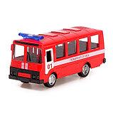 Автобус металлический «Спецслужбы», масштаб 1:52, инерция, МИКС, фото 5