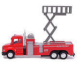 Машина металлическая «Пожарная служба», инерция, МИКС, фото 5