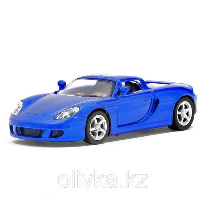 Машина металлическая Porsche Carrera GT, 1:36, открываются двери, инерция, цвет синий