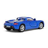 Машина металлическая Porsche Carrera GT, 1:36, открываются двери, инерция, цвет синий, фото 3