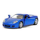 Машина металлическая Porsche Carrera GT, 1:36, открываются двери, инерция, цвет синий, фото 4