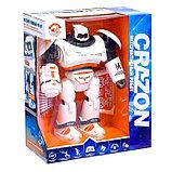 Робот интерактивный радиоуправляемый CRAZON с аккумулятором, цвет оранжевый, фото 5