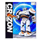 Робот интерактивный радиоуправляемый CRAZON с аккумулятором, цвет оранжевый, фото 6