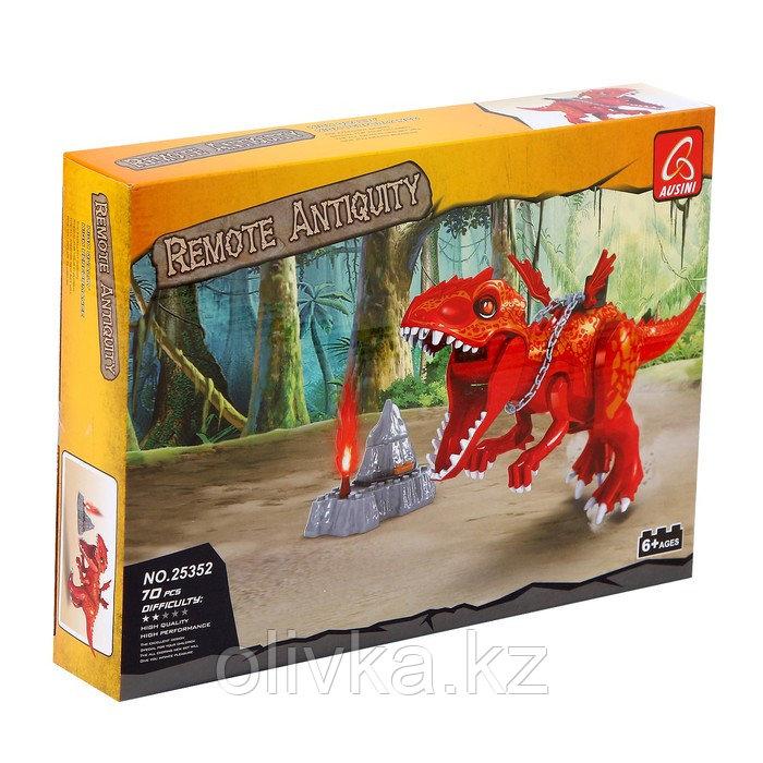 Конструктор Диноленд «Сражение на динозавре», 70 деталей