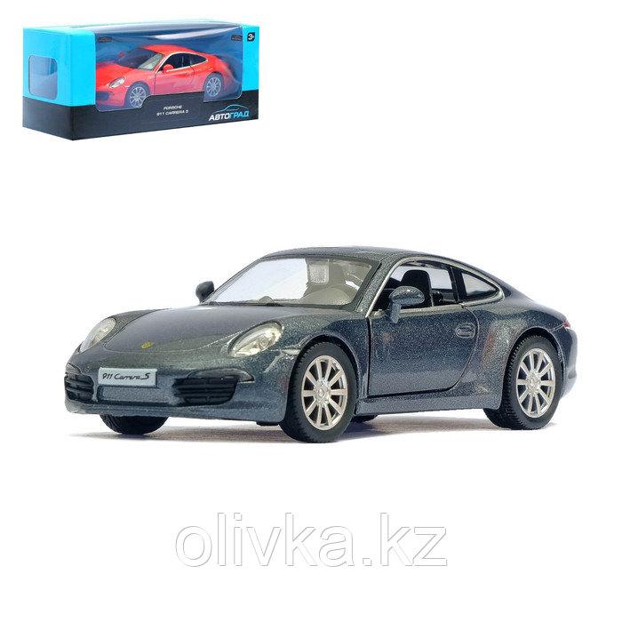 Машина металлическая PORSCHE 911 CARRERA S, 1:32, инерция, цвет серый