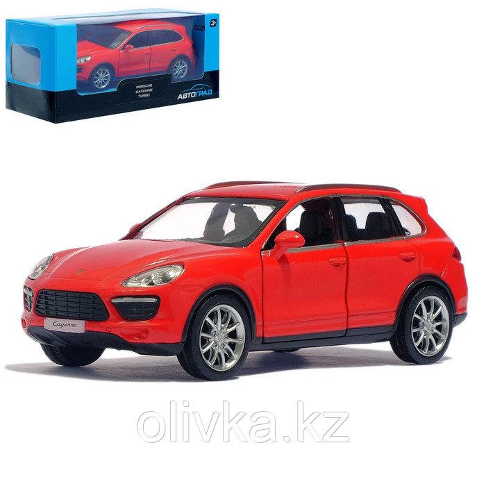 Машина металлическая PORSCHE CAYENNE TURBO, 1:32, инерция, цвет красный