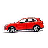 Машина металлическая PORSCHE CAYENNE TURBO, 1:32, инерция, цвет красный, фото 2