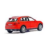 Машина металлическая PORSCHE CAYENNE TURBO, 1:32, инерция, цвет красный, фото 3