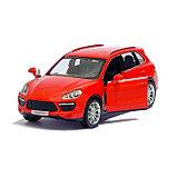 Машина металлическая PORSCHE CAYENNE TURBO, 1:32, инерция, цвет красный, фото 4