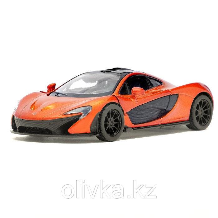 Машина металлическая McLaren P1, масштаб 1:36, открываются двери, инерция, цвет оранжевый