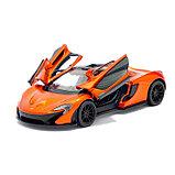 Машина металлическая McLaren P1, масштаб 1:36, открываются двери, инерция, цвет оранжевый, фото 4