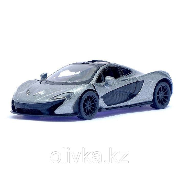 Машина металлическая McLaren P1, масштаб 1:36, открываются двери, инерция, цвет серый