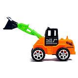 Трактор инерционный, цвета МИКС, фото 2