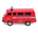 Автобус металлический «Пожарная служба», инерция, открываются двери, фото 2