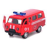 Автобус металлический «Пожарная служба», инерция, открываются двери, фото 4