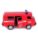 Автобус металлический «Пожарная служба», инерция, открываются двери, фото 5