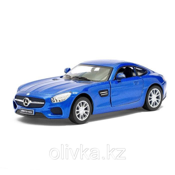 Машина металлическая Mercedes-AMG GT, 1:36, открываются двери, инерция, цвет синий