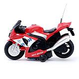 Мотоцикл радиоуправляемый «Рейсер», работает от батареек, световые и звуковые эффекты, МИКС, фото 2
