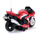 Мотоцикл радиоуправляемый «Рейсер», работает от батареек, световые и звуковые эффекты, МИКС, фото 3