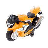 Мотоцикл радиоуправляемый «Рейсер», работает от батареек, световые и звуковые эффекты, МИКС, фото 4