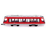Трамвай металлический «Город», масштаб 1:43, инерция, МИКС, фото 2