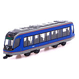 Трамвай металлический «Город», масштаб 1:43, инерция, МИКС, фото 4