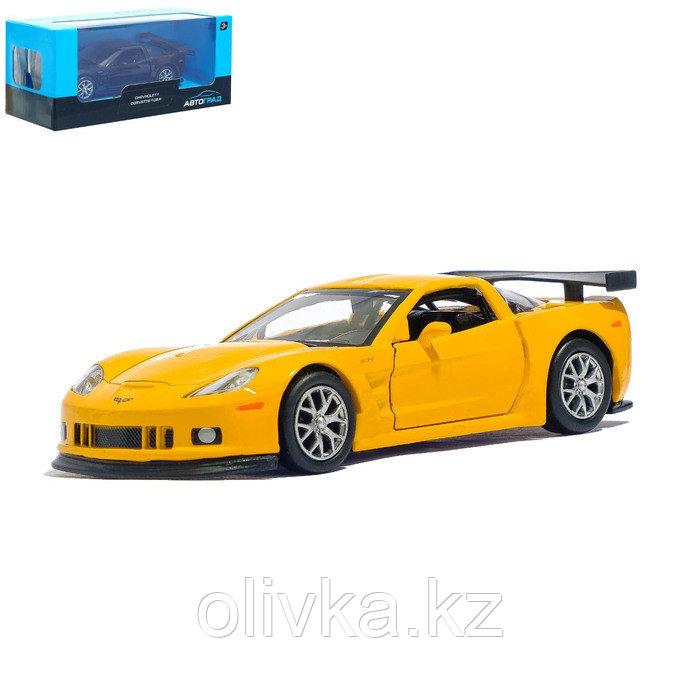 Машина металлическая CHEVROLET CORVETTE C6-R, 1:32, инерция, цвет жёлтый