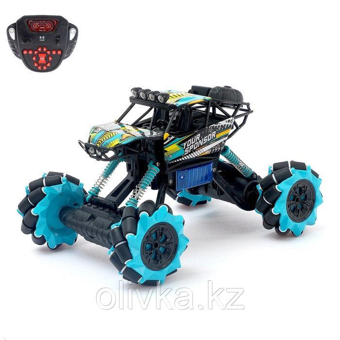 Машина радиоуправляемая «Джип-акробат», 4WD полный привод, движение во всех направлениях, цвета МИКС