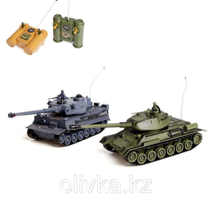 Танковый бой «Великое сражение» на радиоуправлении, 2 танка, световые и звуковые эффекты